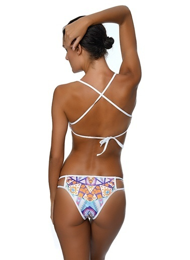 Movom Desenli Bikini Takımı Renkli